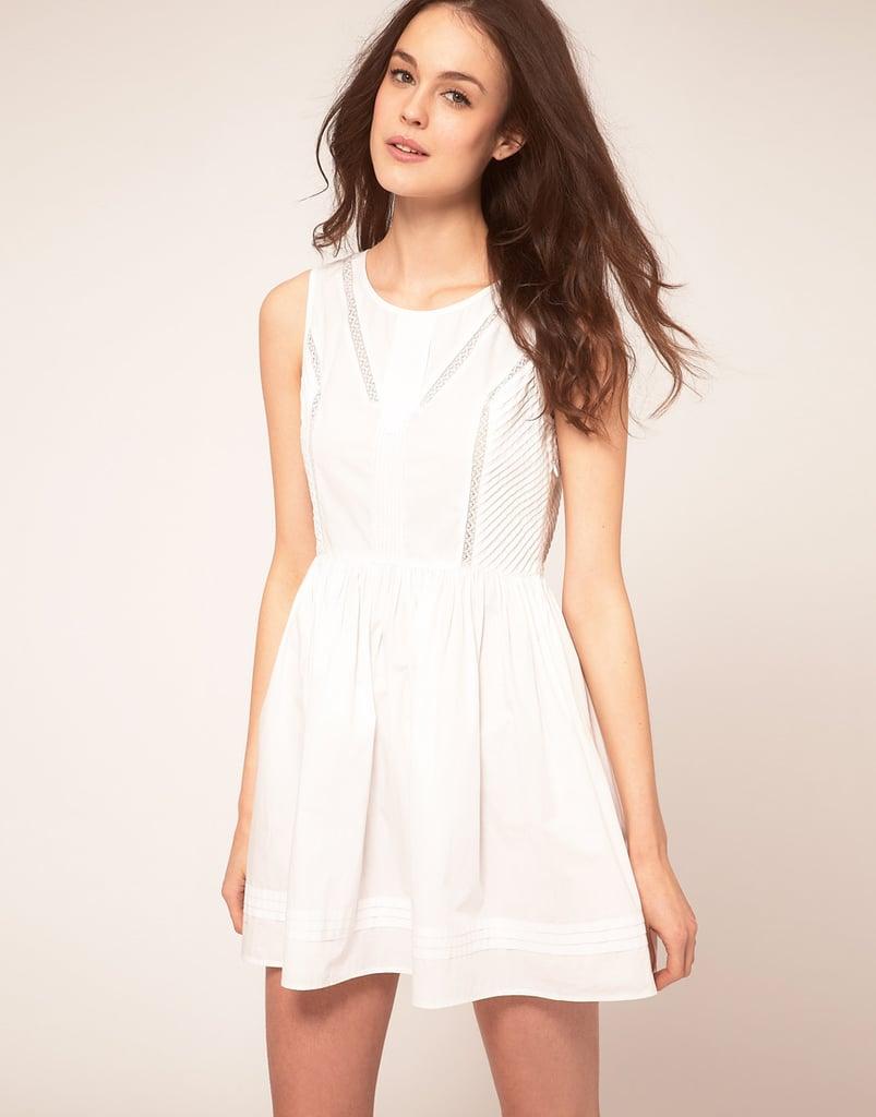 Vanessa Bruno Athe Sleeveless Dress With Full Skirt & Seam Detail ($288)