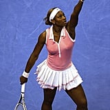 Serena Williams Wearing Pink and White at the WTA Tour Tennis Championships in 2004