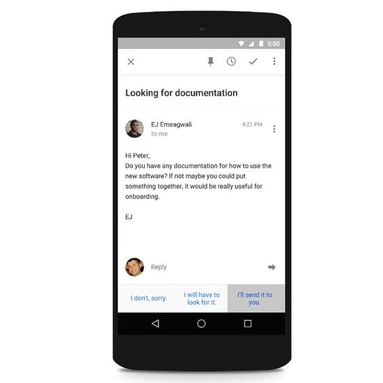 Smart Reply on Inbox by Gmail