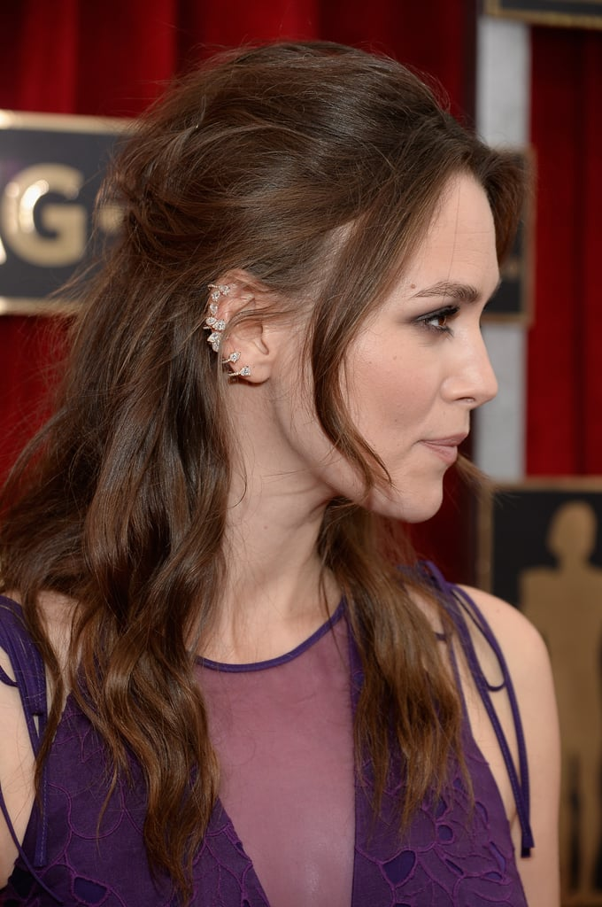 Half Up Do From The Side Keira Knightley Hair And