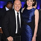 Sigourney Weaver and Michael Kors chatted inside the event.