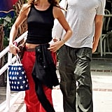 In 1999, Jen and Brad Pitt were spotted shopping in LA modeling the same small shape.