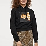 H&M Short Printed Hooded Top