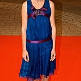 Kirsten paired sweet black flats with her girlie Christian Lacroix dress for the September 2005 Elizabethtown premiere.