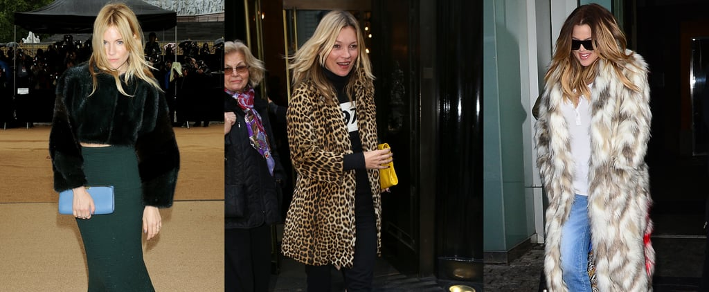 How to Rock Faux Fur Like Kate Moss