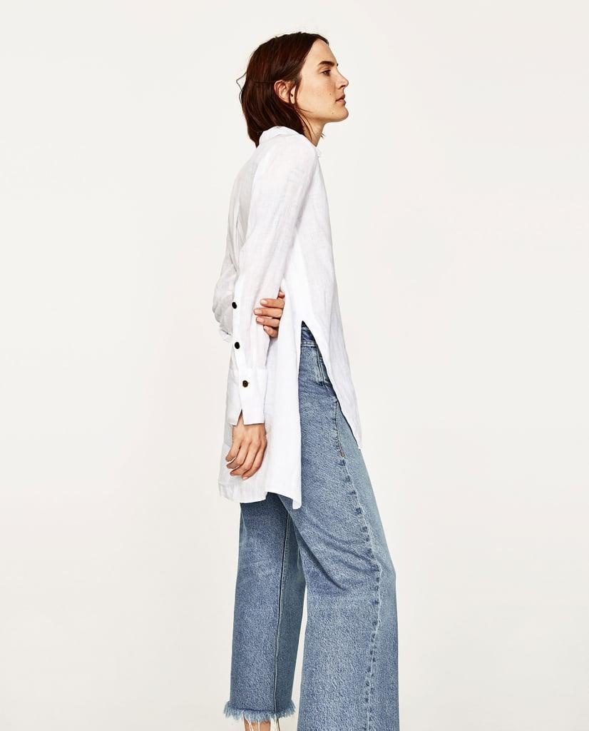 Zara Loose Linen Blouse