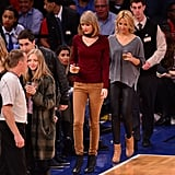 Taylor Wore the 525 America Sweater to a Basketball Game in November 2014