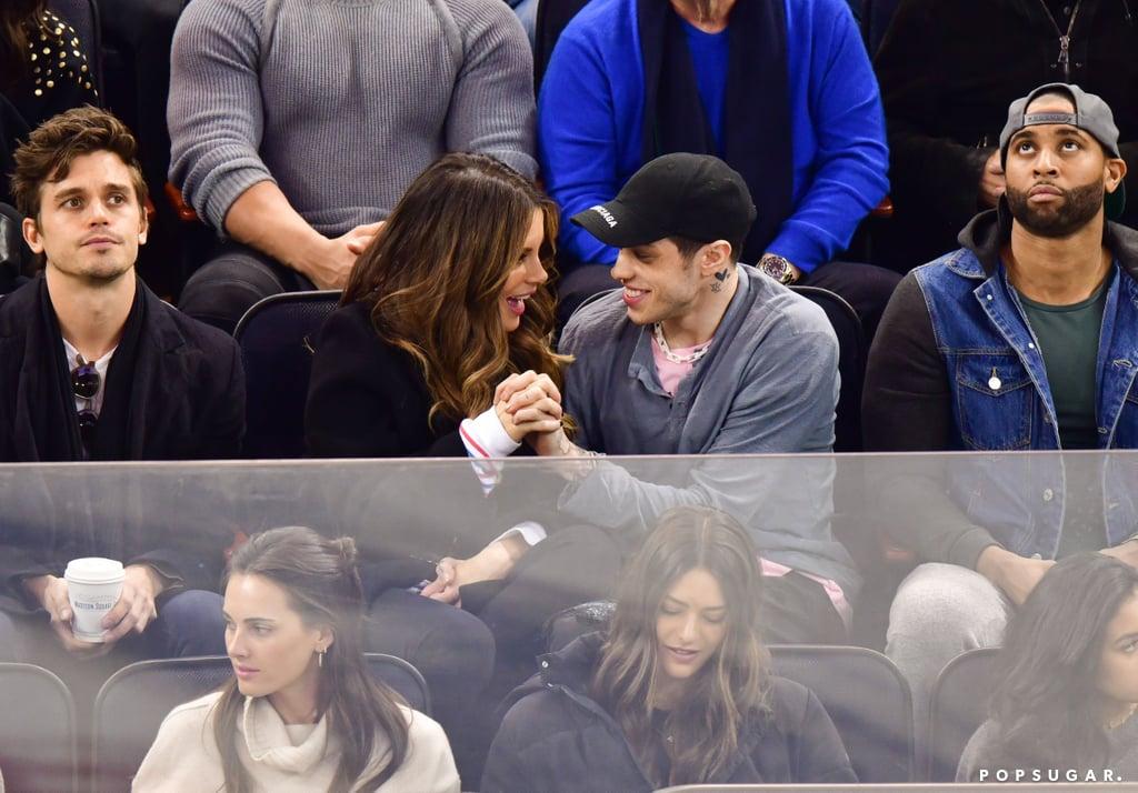 Pete Davidson and Kate Beckinsale Kissing at Hockey Game