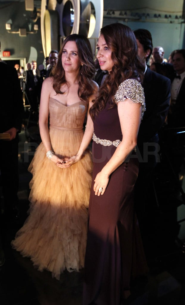 Kristen Wiig and Maya Rudolph watched the show from backstage.