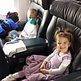 This is airplane travel.