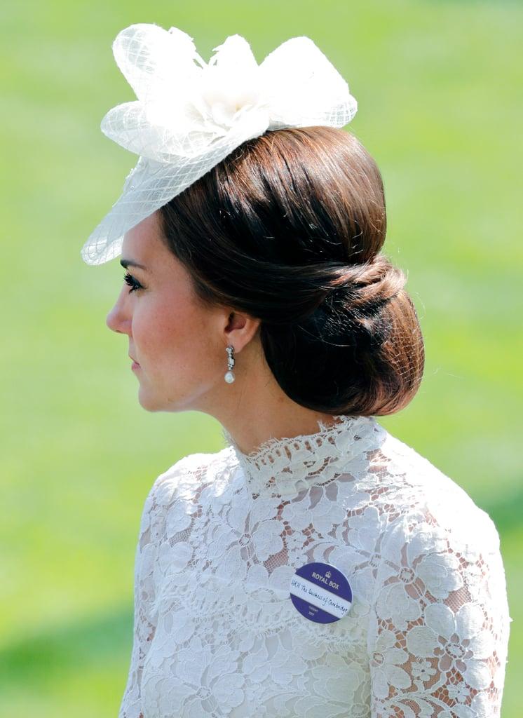 Kate Middleton's Neat Chignon. 2017