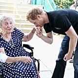 He put his courtly manners on display while meeting 95-year-old Ruth Uffleman at the Invictus Games in Orlando, FL, in May.