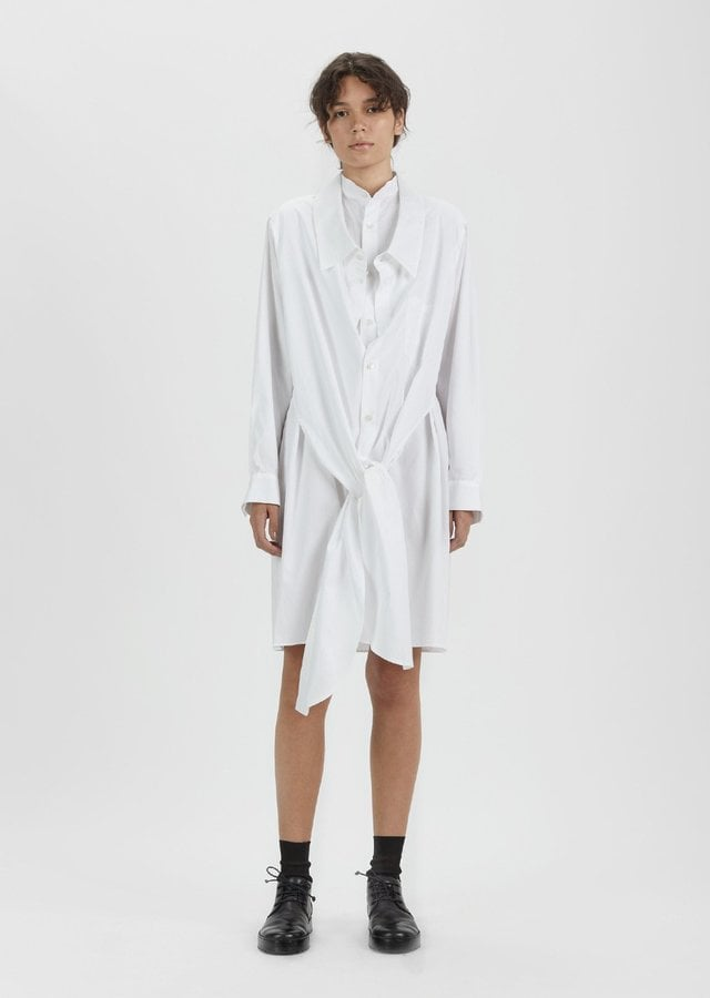 La Garconne Double Front Shirt Dress Emily Ratajkowski Wearing