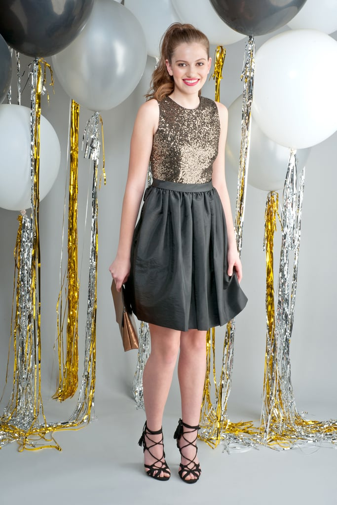 Sequined-bodice fit-and-flare