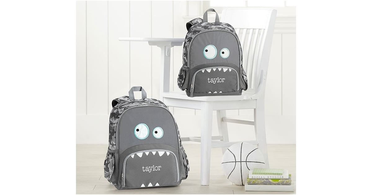 Pottery Barn Kids Mackenzie Critter Grey Monster Backpack