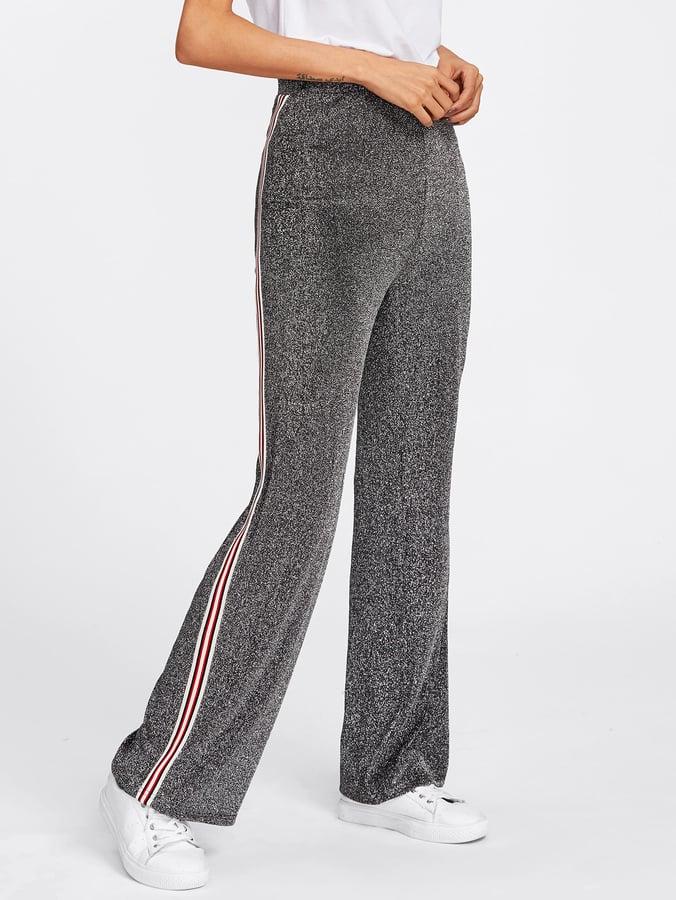SheIn Striped Glitter Pants
