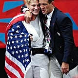 US judo competitor Kayla Harrison got a hug from her coach after winning gold.