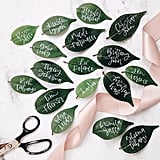 Fresh Leaf Wedding Place Cards