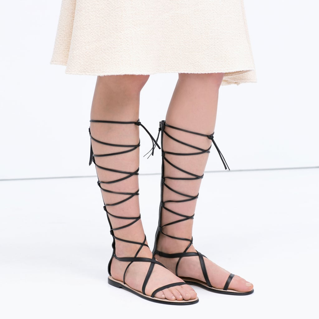 Knee High Gladiator Sandals Popsugar Fashion