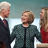 The Clintons shared a family moment on stage.