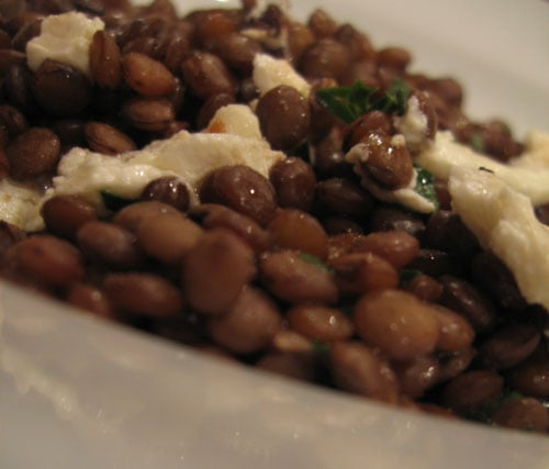 Warm Lentil Salad With Goat Cheese by Martha Rose Shulman's The Very Best of Recipes For Health