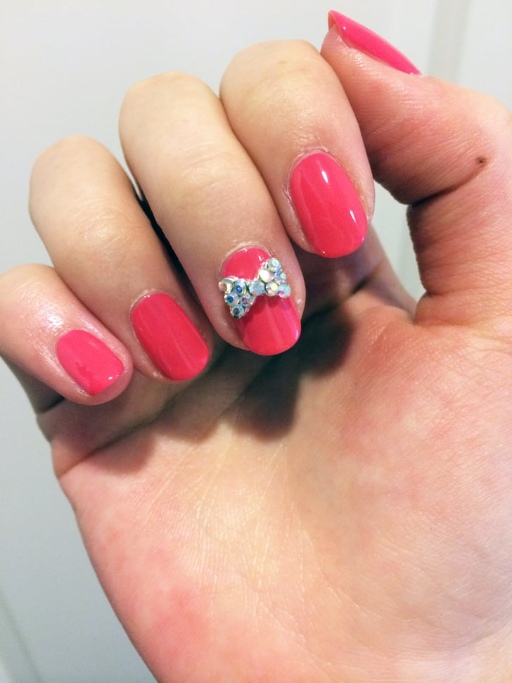How To Get A Bow Tie Nail Art Look Popsugar Beauty