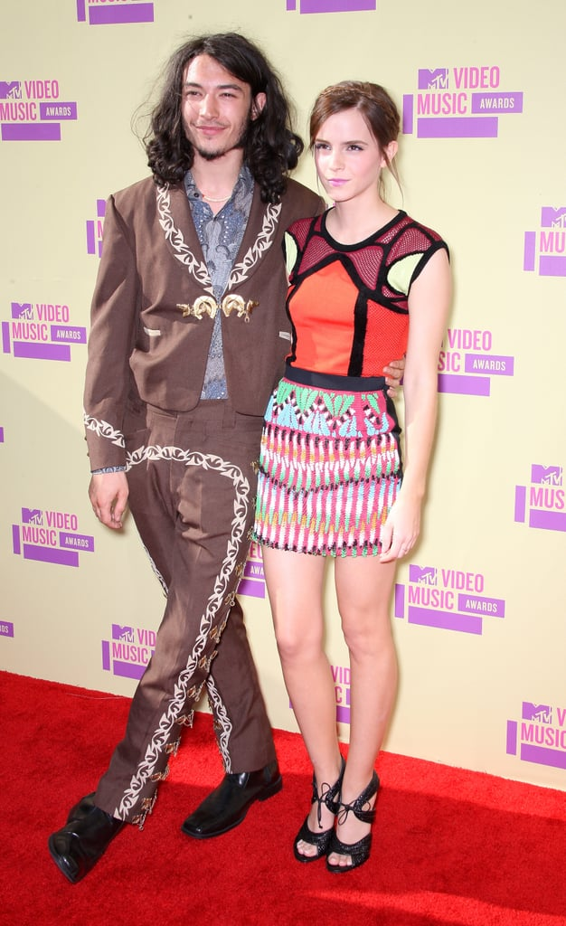 The Perks of Being a Wallflower co-stars Ezra Miller and Emma Watson teamed up as presenters in 2012.