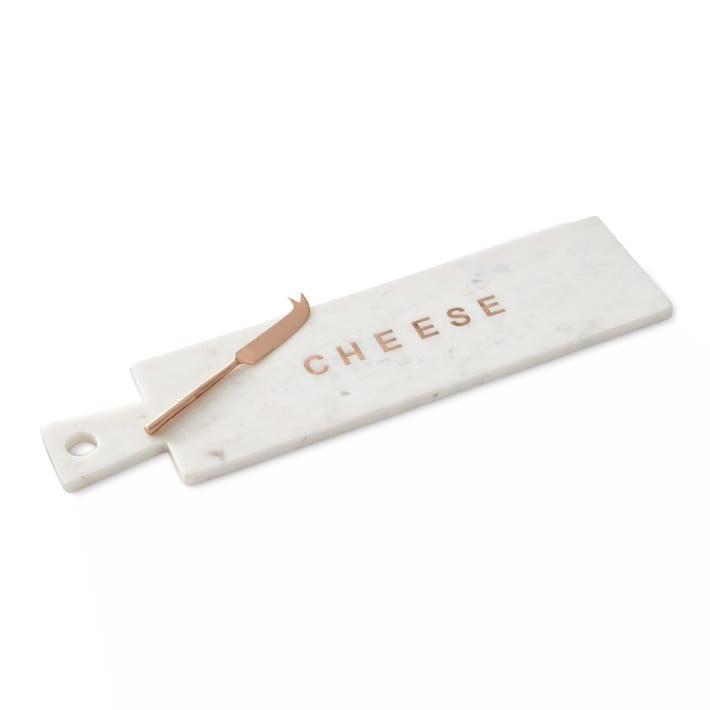 """William Sonoma Marble & Copper """"Cheese"""" Board With Knife ($80)"""