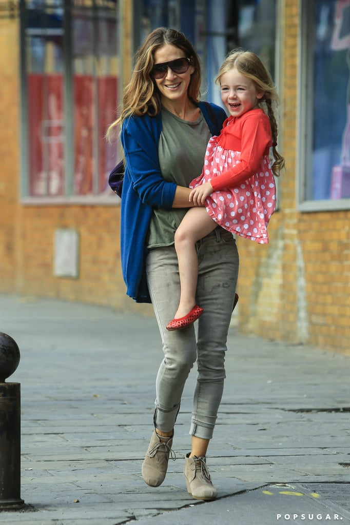 Sarah Jessica Parker wore Toms wedges.