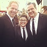 Jesse Tyler Ferguson and Eric Stonestreet snapped a picture with their obscreen nephew Rico Rodriguez. Source: Instagram user starringrico