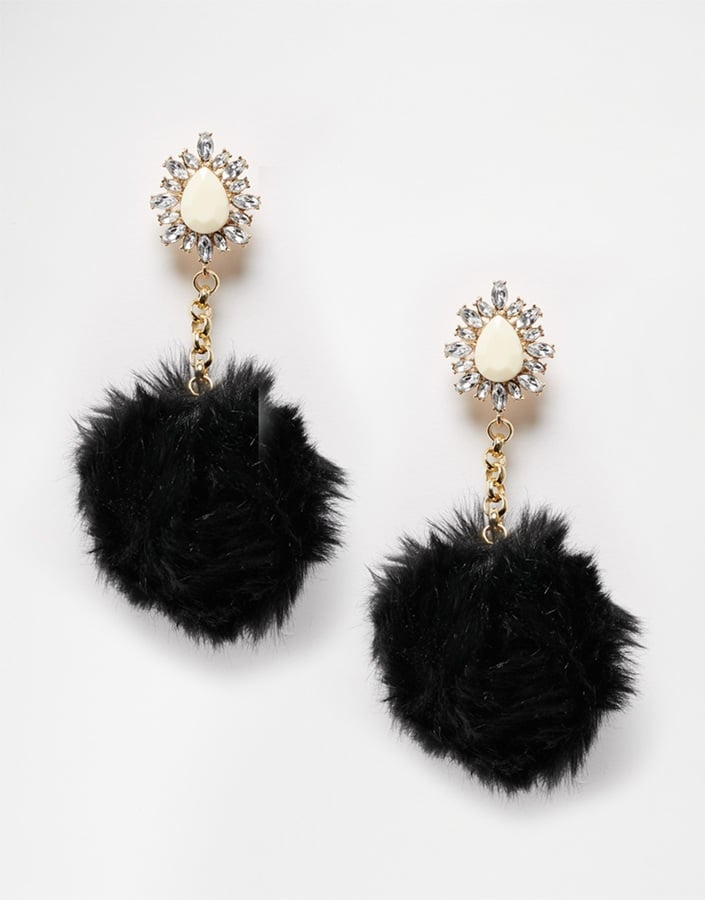Rock 'N' Rose Pom Pom Drop Earrings