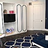 PS: Navy is a bold pick for a playroom! How do you incorporate dark colors into a kids' space while still keeping the tone upbeat and fun? VA: It's all about balance. Navy can be a little intimidating on paper for a playroom, but when it's paired with sweet little birds and cute pom-poms, it instantly softens the overall space. Source: Vanessa Antonelli for Nessa Lee Baby