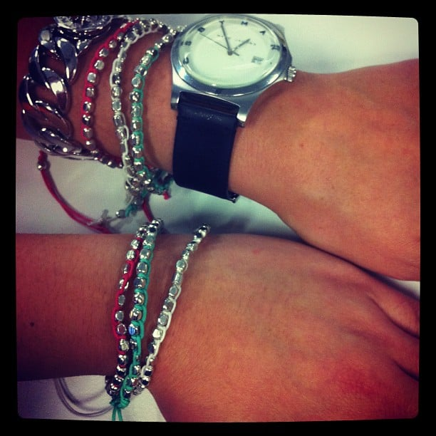 Jess and Alison rocked some Talulah arm candy after the show.