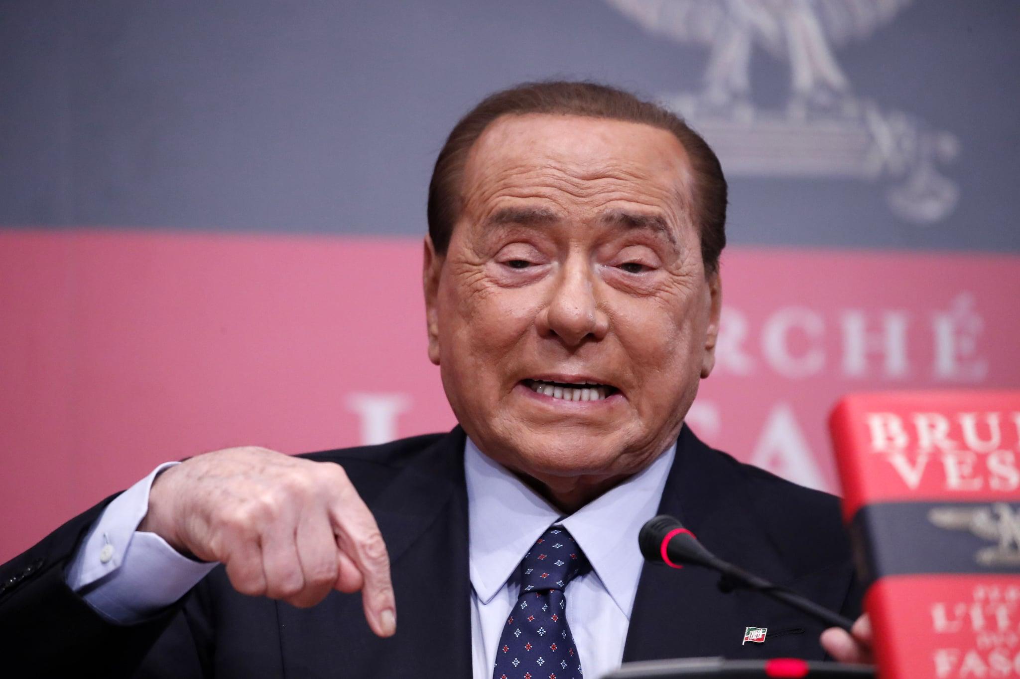 ROME, ITALY - DECEMBER 19: Senator Silvio Berlusconi attends at the presentation of Bruno Vespa's book