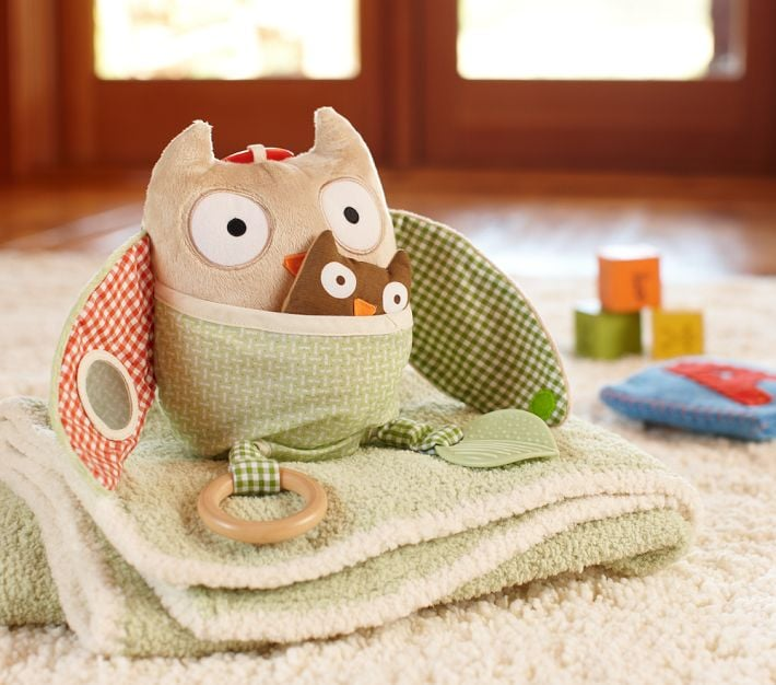 Pottery Barn Kids Nursery Farm Hug & Hide Owl