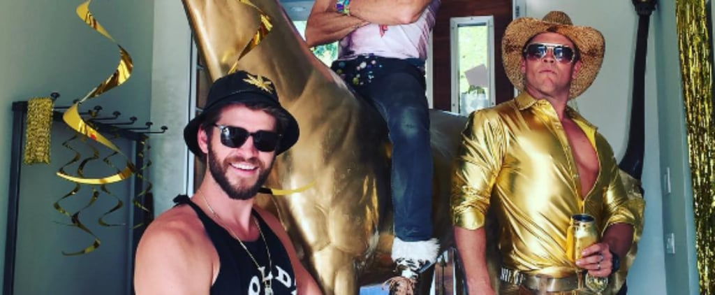 Miley Cyrus and Liam Hemsworth Are Dripping in Gold at His Sister-in-Law's Birthday Party