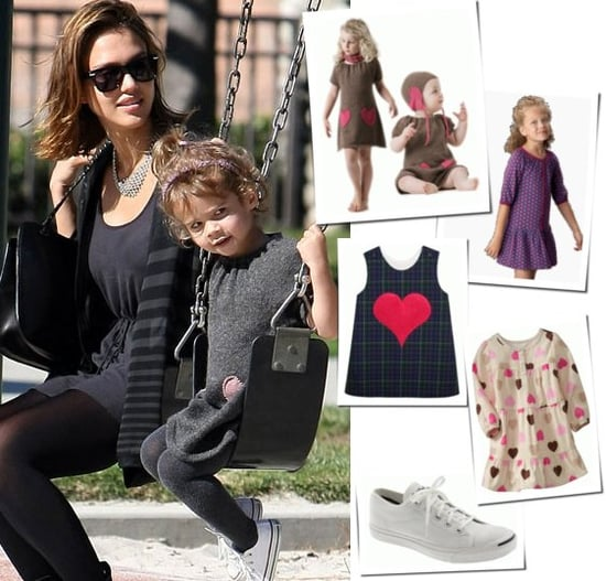 Picture of Jessica Alba and Honor Warren at Playground
