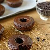 Chocolate Chip Doughnuts With Chocolate Glaze