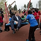 When He Tried Out a Swing at the Olympic Park in London