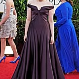 Winner Lena Dunham went strapless in Zac Posen.