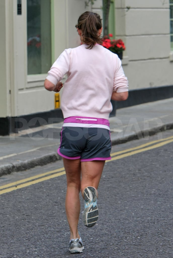 Pippa Middleton in running shorts.