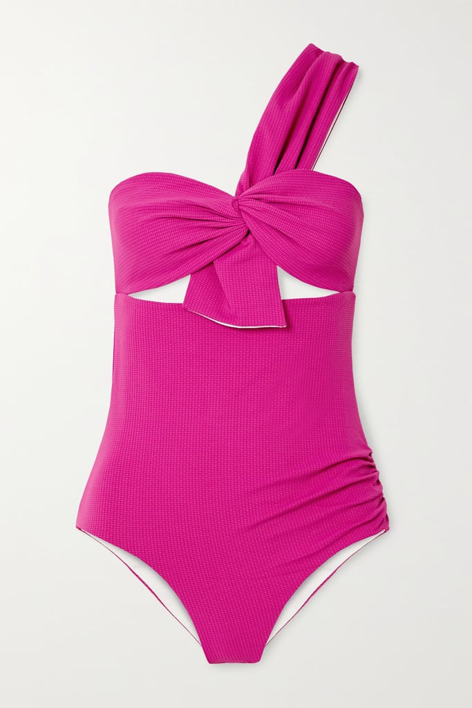 Marysia Pink Venice One-Shoulder Cutout Swimsuit