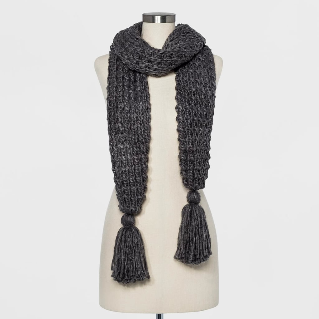 Women's Chunky Oblong With Tassels Scarf