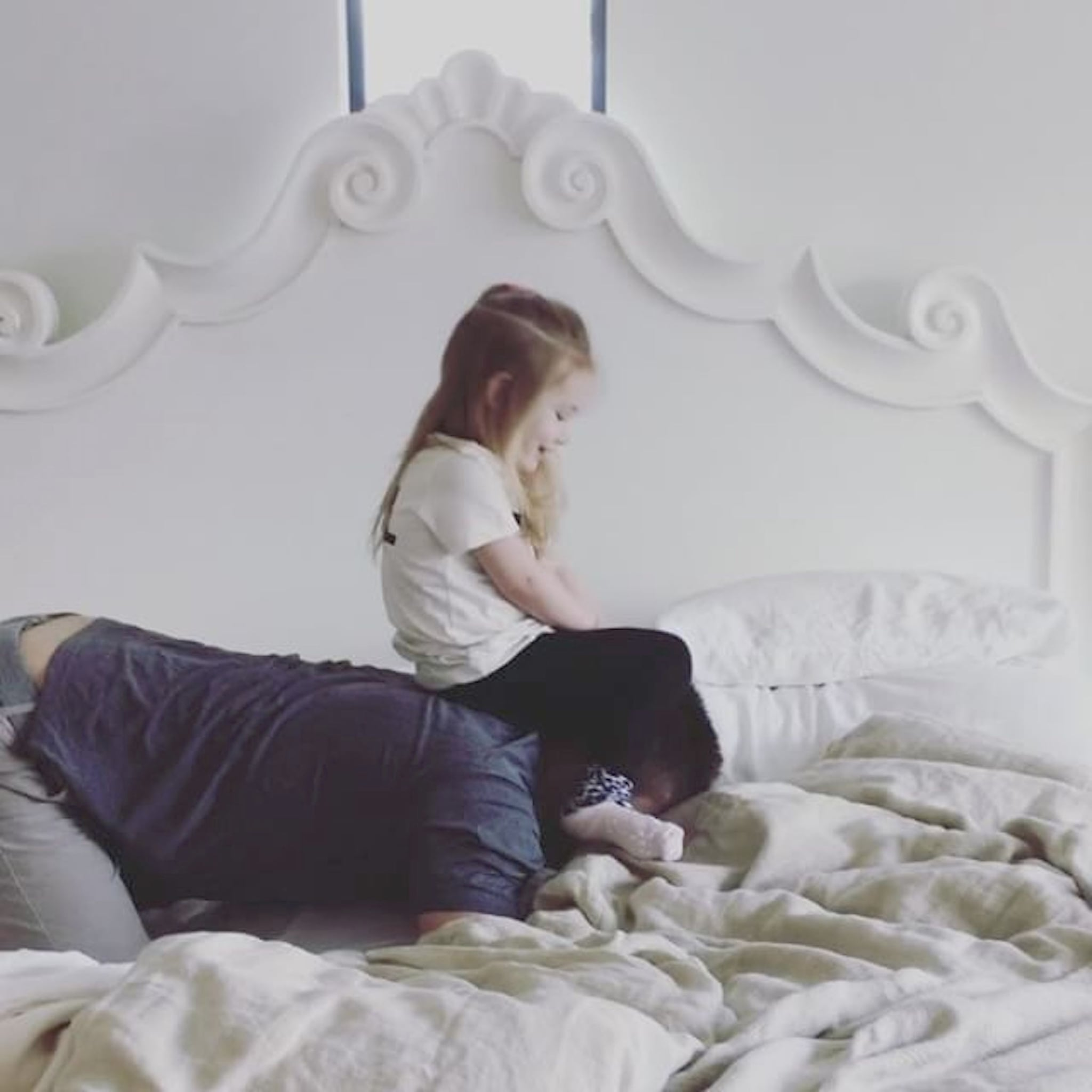 Fancy Jensen Ackles Playing With Daughter Justice Jay March POPSUGAR Celebrity