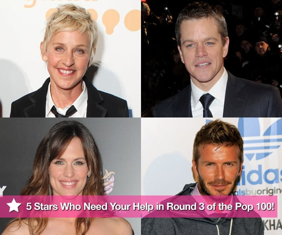 5 Stars Who Need Your Help in Round 3 of the PopSugar 100!