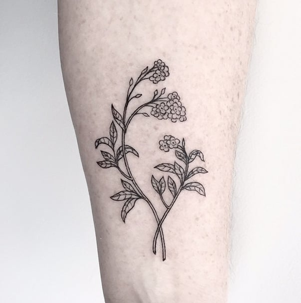 forget me not forearm flower tattoo ideas popsugar beauty photo 19 rh popsugar com Forget Me Not Bracelet Tattoo Forget Me Not Tattoo Black and White
