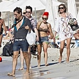 Kate Moss and Jamie Hince hung out on the beach with friends in Ibiza.