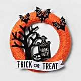 Haunted House Fabric Yarn Wreath