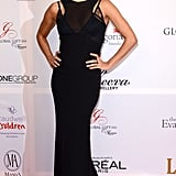 Eva most recently hit the red carpet in London in a sleek Victoria Beckham gown at the Global Gift Gala.