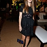 Jessica Biel wore a blake eyelet dress to Justin Timberlake's Trouble With the Curve premiere after-party in LA.